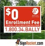 Promote your business or special event with Yard Signs from SignRocket.com. We offer a full line of Yard Signs from our low cost one color Poly Sleeves all the way up to our Full Color corrugated plastic Yard Signs. No set-up fees, and your choice of Rocket Fast Production Times!
