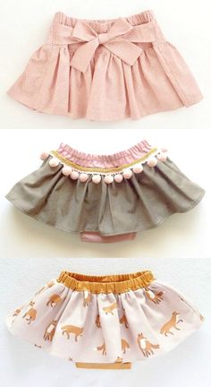 Handgefertigte Röcke mit Pumphose Handmade skirts with bloomers Outfits Niños, Baby Outfits, Kids Outfits, Fashion Outfits, Baby Girl Fashion, Fashion Kids, Fashion Spring, Newborn Fashion, Style Fashion