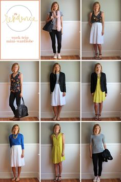 wearing lately: Dubai work trip mix & match suitcase Work Wardrobe, Capsule Wardrobe, Cute Fashion, Fashion Outfits, Travel Outfits, Conference Outfit, Multiple Outfits, Packing Clothes, Striped Tee