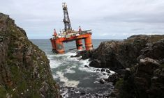 The long read: When a drilling platform is scheduled for destruction, it must go on a thousand-mile final journey to the breaker's yard. As one rig proved when it crashed on to the rocks of a remote Scottish island, this is always a risky business Water Conservation In Hindi, Marine Engineering, Scottish Independence, Survival Instinct, Drilling Rig, Risky Business, The Breakers, Oil Industry, Oil Spill