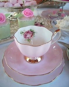Vintage Shabby Pink! Love it. I have acquired 4 tea cups/saucers recently, all vintage bone china. Love them.