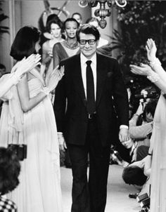 YSL on stage after one of his shows, 1962