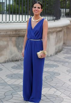 25 Perfect Wedding Guest Outfits / of 24 Photos Christening Guest Outfit, Jumpsuit For Wedding Guest, Dinner Outfits, Elegant Outfit, Classy Outfits, Palazzo, Jumpsuits For Women, Blue Dresses, Marie