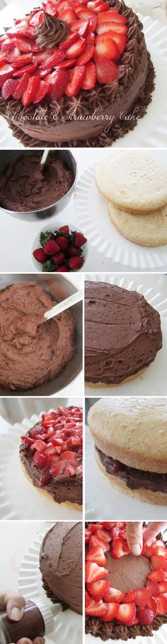 Chocolate & Strawberry Cake