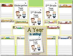 FREEBIE! A Year in Writing: Writing Portfolio! Love this idea! Could make into a book of their best writing throughout the year and present it to them as a present at the end of the year.