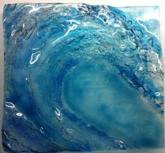 This is a relief piece of fused glass I made a couple of years ago as I love the sea