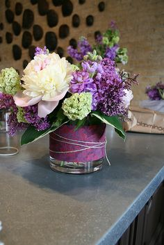 Floral Arrangement - Purples!