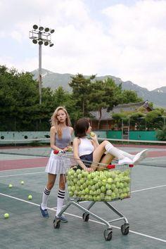 Ideas For Sport Fashion Photoshoot Photo Shoot Tennis Fashion, Sport Fashion, Tennis Photography, Fashion Photography, Vogue Korea, Vive Le Sport, Tennis Pictures, Le Tennis, Photoshoot Concept