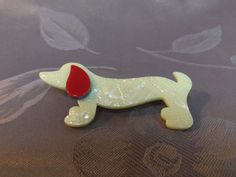 Lea Stein Dog Brooch Daschund 3 inches without by Lynnestreasures, $40.00