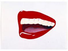 Study for Mouth, 8 Tom Wesselmann (American, Roy Lichtenstein, Art Pop, Andy Warhol, Native American Art, Moma, Cincinnati, Peter Blake, Jasper Johns, Pop Art Illustration