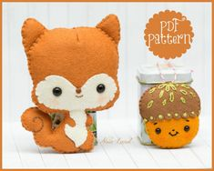 Squirrel and acorn PDF Pattern by Noialand on Etsy
