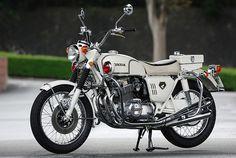 1970 Honda Police Special,sold around the giobe in the seventies Vintage Honda Motorcycles, Honda Bikes, Cars Motorcycles, Womens Motorcycle Helmets, Retro Motorcycle, Motorcycle Girls, Classic Motors, Classic Bikes, Honda Cb Series