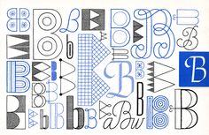 LETTER B Designed by Elsie Svennas (1966).