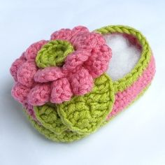 Crochet Pattern Baby Bonnie Flower Booties pdf by ketzl on Etsy, $5.95