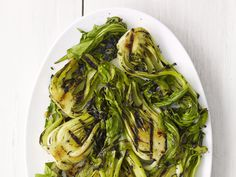 Grilled Bok Choy from FoodNetwork.com, for when you see bok choy in your CSA box for the zillionth time and have an extreme White Whine Moment.