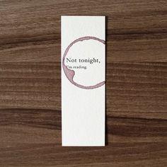 Funny Bookmark Paper Not Tonight Im Reading Birthday Gift For Reader Book Lov