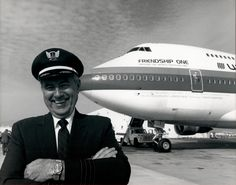 The man himself Clay Lacy with United Airlines in United Airlines, Throwback Thursday, My Dad, The Man, Aviation, Dads, Clay, The Unit, People