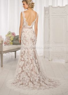 I really want a white lace dress with a beige underlayer