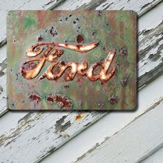 Mousepad Rusted Ford Emblem Image on Durable by EastCoastDyeSub