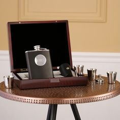 Flask Gift Set For Father Of The Bride Or Groom