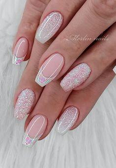Square Nail Designs, Simple Nail Designs, Nail Art Designs, Pretty Nail Designs, Cute Spring Nails, Cute Nails, Pretty Nails For Summer, Fancy Nails, Elegant Nails