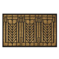 The design on this welcoming door mat is adapted from an art glass window in the Darwin D. Martin House (Buffalo, New York, 1904).