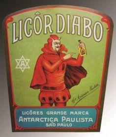 Licor Diabo Cia Antarctica Paulista 1913