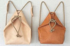Handmade Leather Knapsack | The Lacquerie