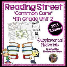 Reading Street Aligned Common Core 4th Grade Unit 2 Supplemental Materials 2013 : This bundle contains a variety of activities from each lesson of Unit 2 to teach, re-teach, practice or assess the various lessons taught. Each activity is unique to each lesson. $