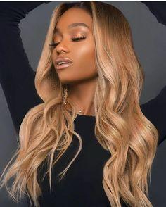 Afro Hair Blonde, Caramel Blonde Hair, Blonde Hair Black Girls, Light Blonde Hair, Honey Blonde Hair, Blonde Ombre, Hair Color Balayage, Blonde Weave, New Hair Look