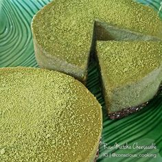 "Raw Matcha & Nutella ""cheesecake"""
