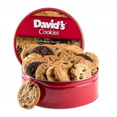 Fresh Baked Cookies 2 lb. Tin Including #FreeShipping! | David's Cookies