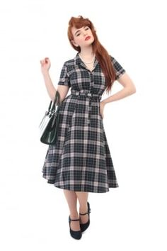 Caterina Sherwood Check Swing Dress
