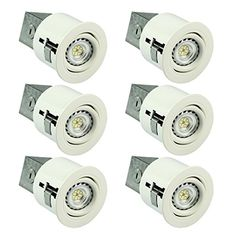 Dailydeal sgl 3 inch led recessed lighting kit with gu10 non sgl 3 inch led recessed lighting kit with gu10 dimmable 6w led bulbs 2700k aloadofball Images