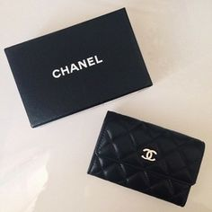 Chanel Quilted Lambskin Card Holder