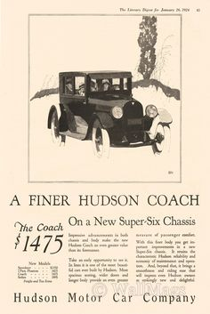 Hudson Coach Ad From 1924
