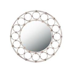Show details for Remada Round Mirror - White