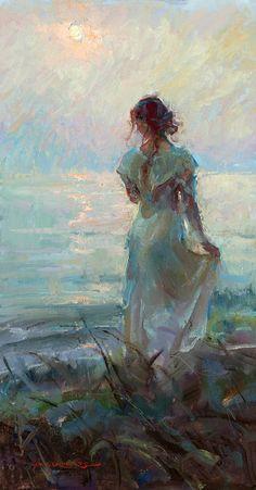 Soft Morning Light by Dan Gerhartz, 30 x 16 Renaissance Paintings, Renaissance Art, Aesthetic Painting, Aesthetic Art, Wow Art, Old Paintings, Classical Art, Pretty Art, Oeuvre D'art