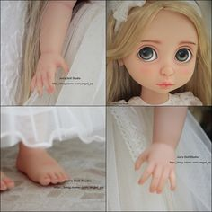 OOAK Before After Disney Animator Collection Rapunzel repaint by Joo