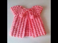 crochet baby cardigan for girls. Crochet Scarf Easy, Crochet Simple, Crochet Baby Cardigan, Crochet Baby Boots, Baby Girl Crochet, Crochet Baby Clothes, Crochet Cap, Lace Short Outfits, Crochet Waistcoat