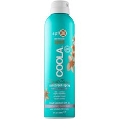 COOLA Sport Continuous Spray SPF 30 - Tropical Coconut (477.630 IDR) ❤ liked on Polyvore featuring beauty products, bath & body products, sun care and coola suncare