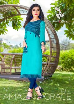 Women Clothing Why The Fuss Plain Kurti Designs, New Kurti Designs, Printed Kurti Designs, Salwar Neck Designs, Kurta Neck Design, Kurta Designs Women, Dress Neck Designs, Kurti Designs Party Wear, Blouse Designs