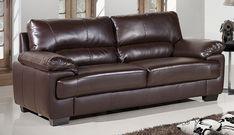 oregon brown leather sofa