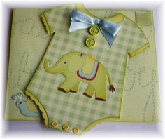 Elephant onesie - interesting layering idea  instead of just one piece of paper