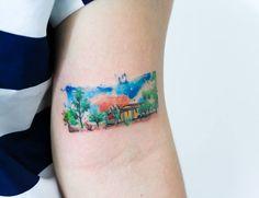 Tatuagem, paisagem, sertão, tattoo, landscape, fields