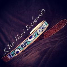 K bar heart beadwork.   Custom made beaded headstalls, beaded tack, beaded headstalls, beaded spur straps, beaded bronc halter, beaded belts  Custom cowboy beadwork.   Www.facebook.com/kbarheartbeads