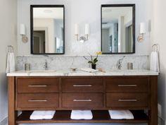 Love this vanity, mirror, fixture combo for the master bathroom http://www.refinedllc.com/properties/urban-casual-2/