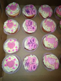 Valentines day cupcakes made by me, SweetEms Cakery.