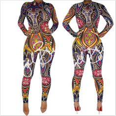 XXXL Plus Size Women Tribal Tattoo Print Mesh Jumpsuit Romper Curvy African Aztec Bodysuit Celebrity Catsuit Tracksuit Jumpsuit-in Jumpsuits from Women's Clothing & Accessories on Aliexpress.com | Alibaba Group