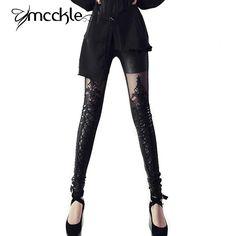 Femmes leggins 2015 En Cuir Dentelle Patchwork FitNESS Leggins Punk Rock Sexy Lacent Gothique Noir Jeggings Pantalon C dans Leggings de Femmes de Vêtements et Accessoires sur AliExpress.com | Alibaba Group